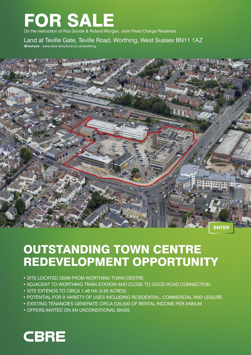 uk/worthing ENTER OUTSTANDING TOWN CENTRE REDEVELOPMENT OPPORTUNITY SITE LOCATED 250M FROM WORTHING TOWN CENTRE ADJACENT TO WORTHING TRAIN STATION