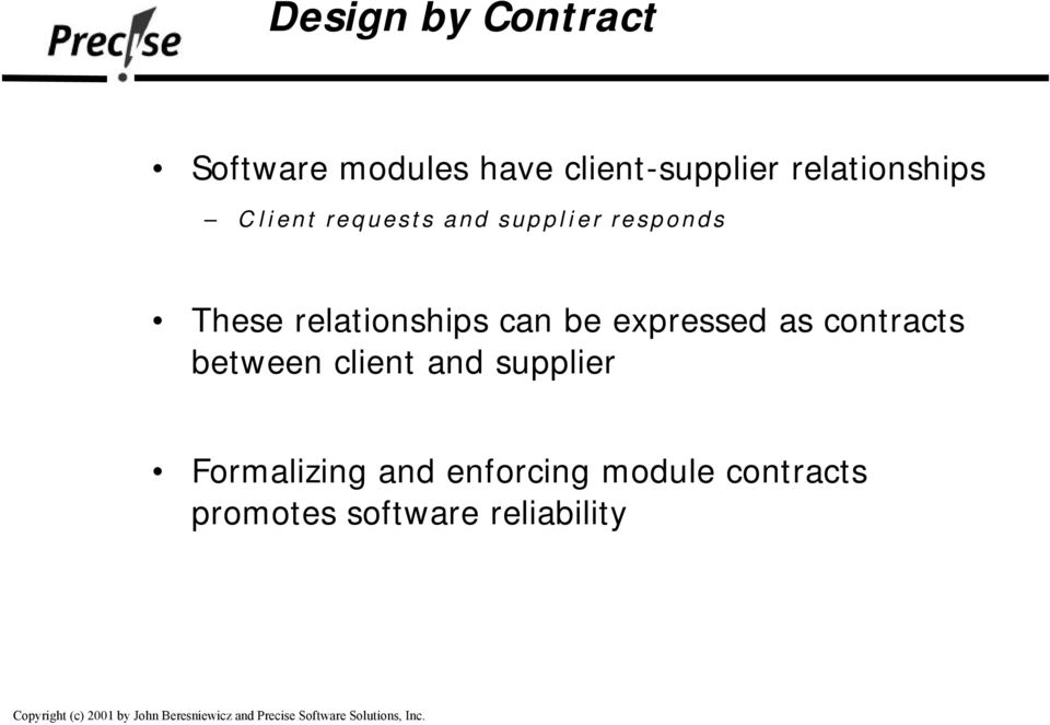 relationships can be expressed as contracts between client and