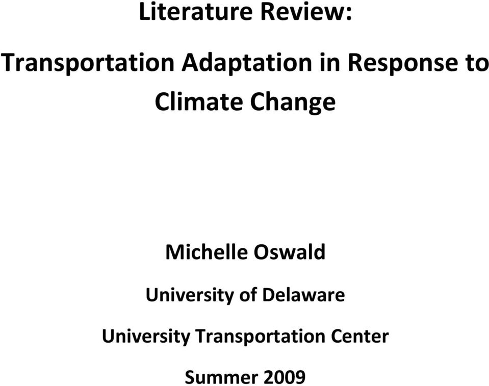 Change Michelle Oswald University of