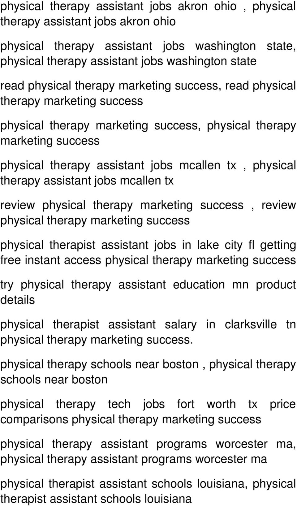 therapy physical therapist assistant jobs in lake city fl getting free instant access physical therapy try physical therapy assistant education mn product details physical therapist assistant salary
