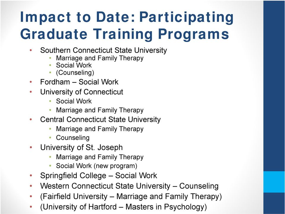 Marriage and Family Therapy Counseling University of St.