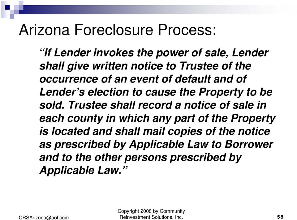 Trustee shall record a notice of sale in each county in which any part of the Property is located and shall mail