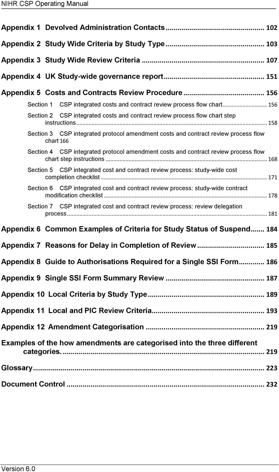 .. 156 Section 2 CSP integrated costs and contract review process flow chart step instructions.