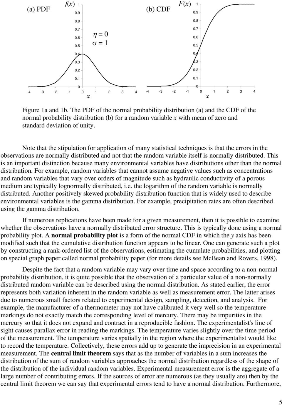 Note that the stipulation for application of many statistical techniques is that the errors in the observations are normally distributed and not that the random variable itself is normally