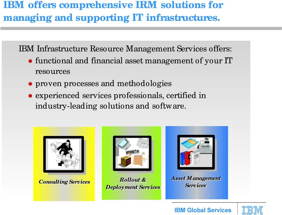 your IT resources proven processes and methodologies experienced services professionals, certified in