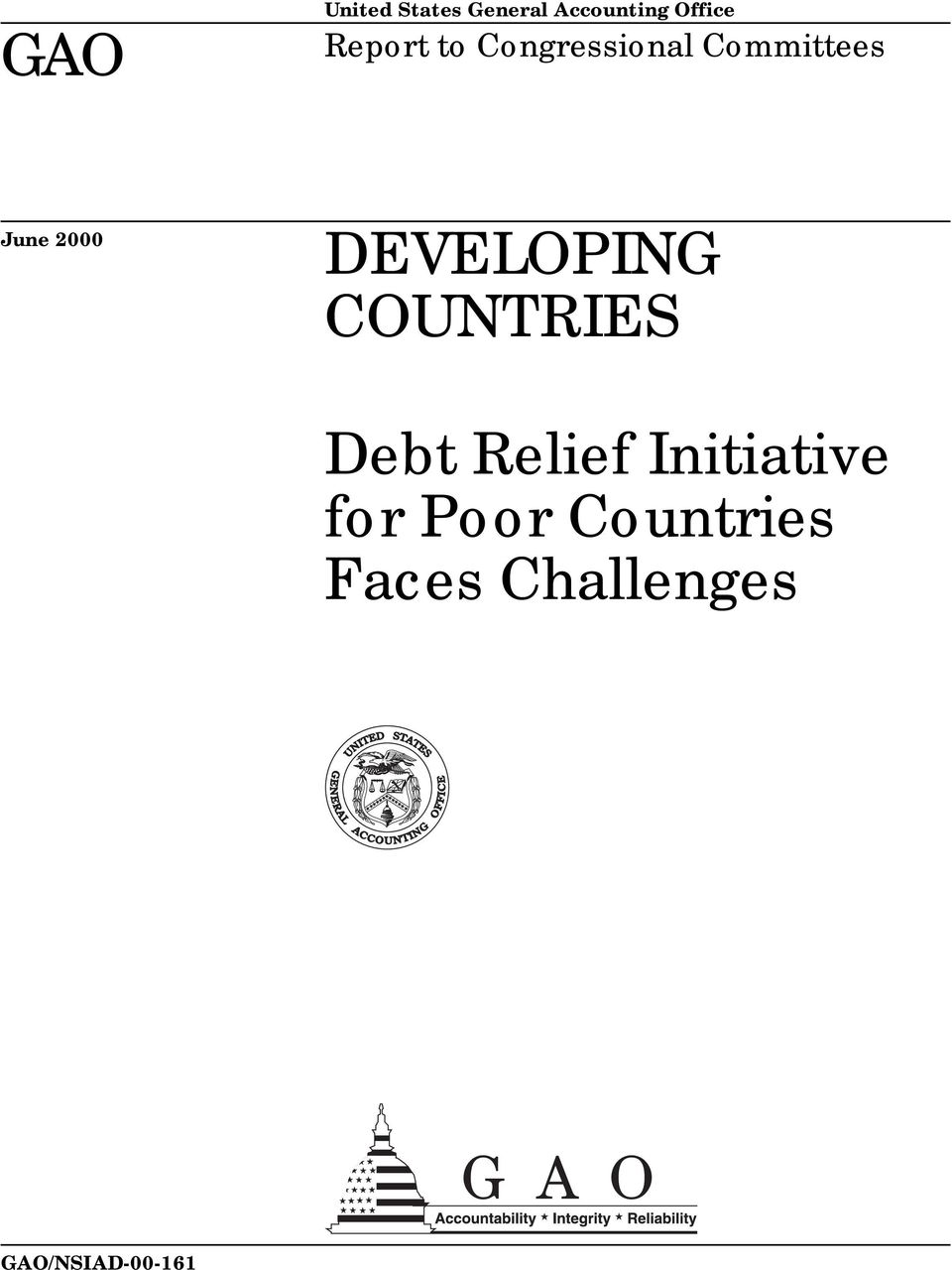 DEVELOPING COUNTRIES Debt Relief Initiative