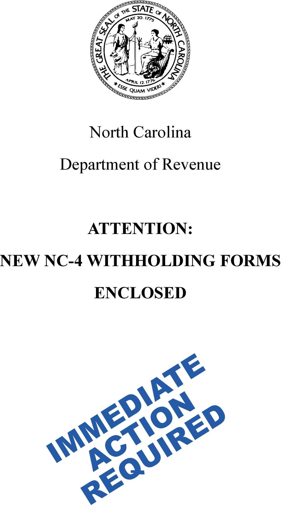 NC-4 WITHHOLDING FORMS