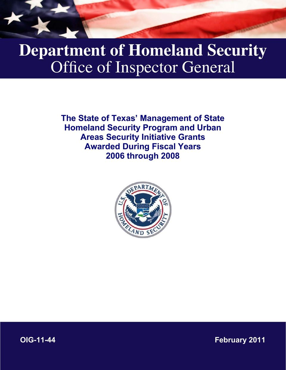 Program and Urban Areas Security Initiative Grants Awarded