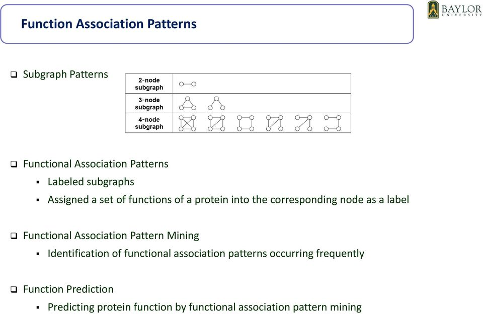 Functional Association Pattern Mining Identification of functional association patterns