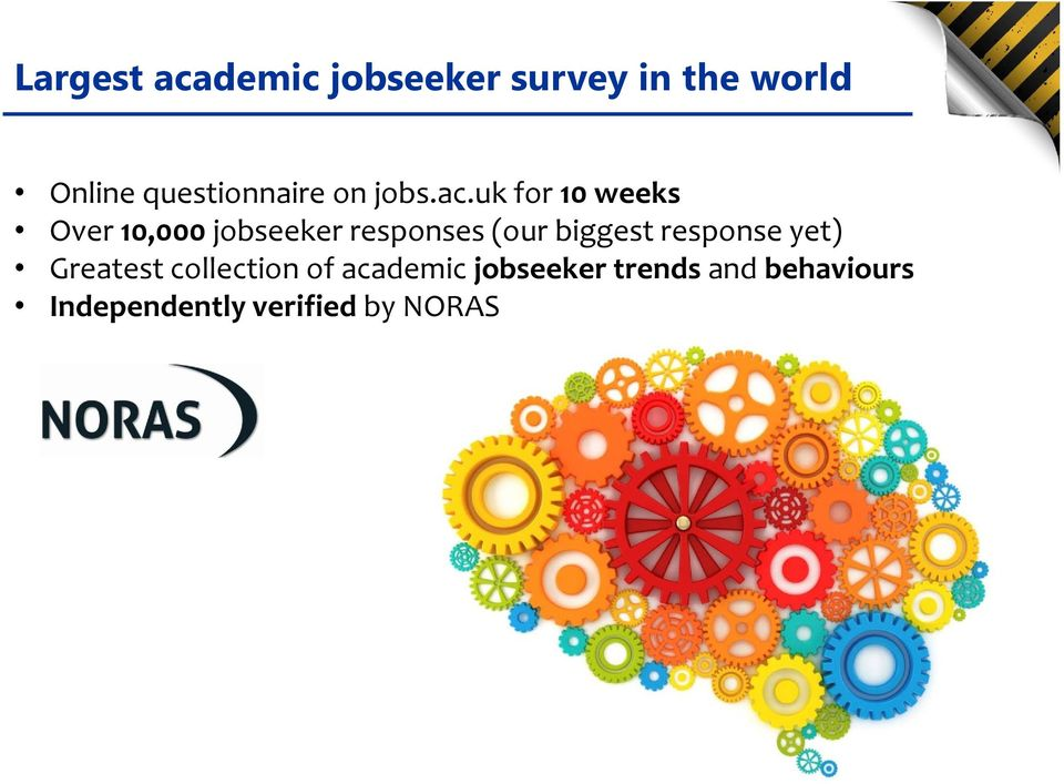 uk for 10 weeks Over 10,000 jobseeker responses (our biggest
