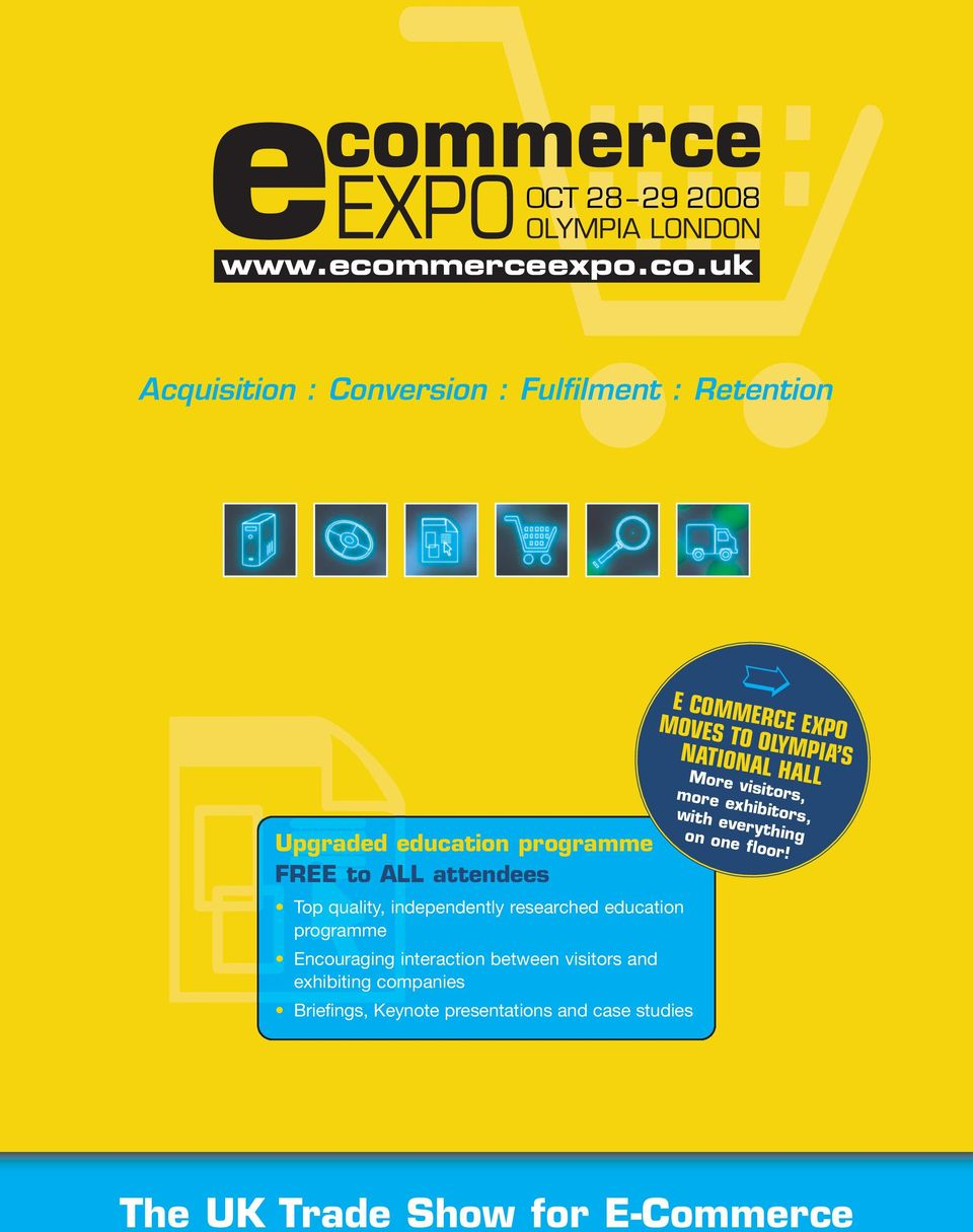 programme Encouraging interaction between visitors and exhibiting companies Briefings, Keynote