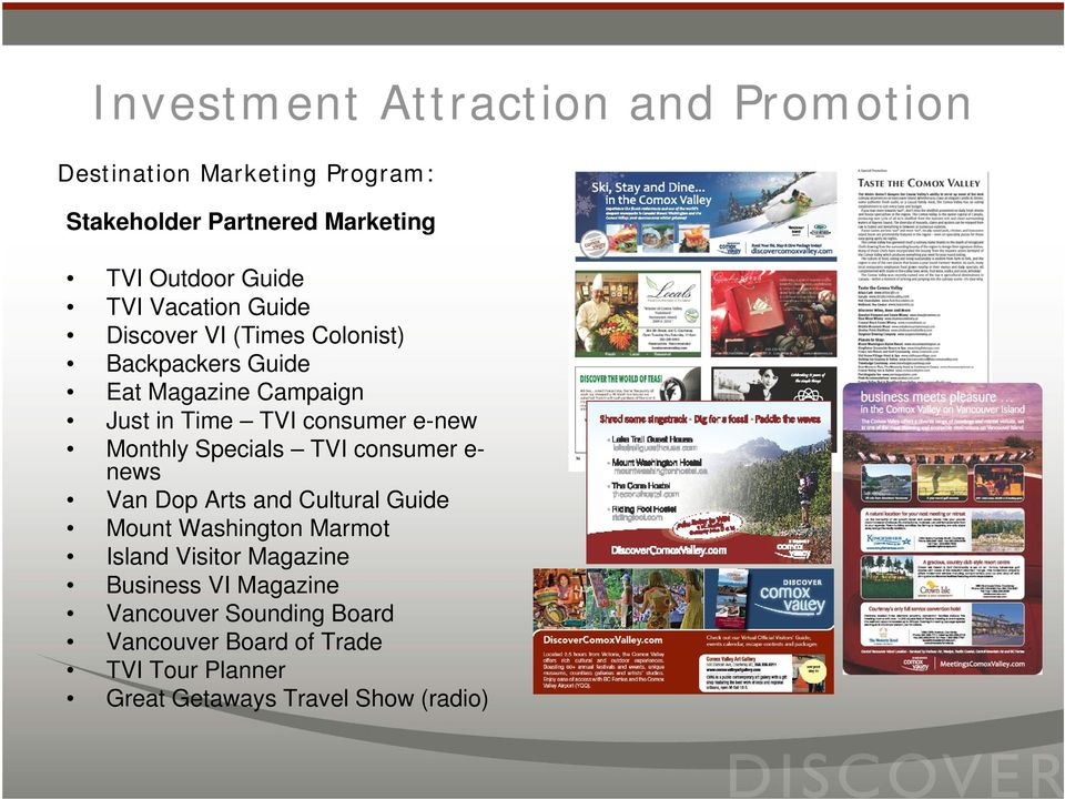 e- news Van Dop Arts and Cultural Guide Mount Washington Marmot Island Visitor Magazine Business VI
