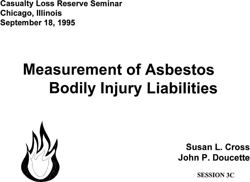 of Asbestos Bodily Injury Liabilities