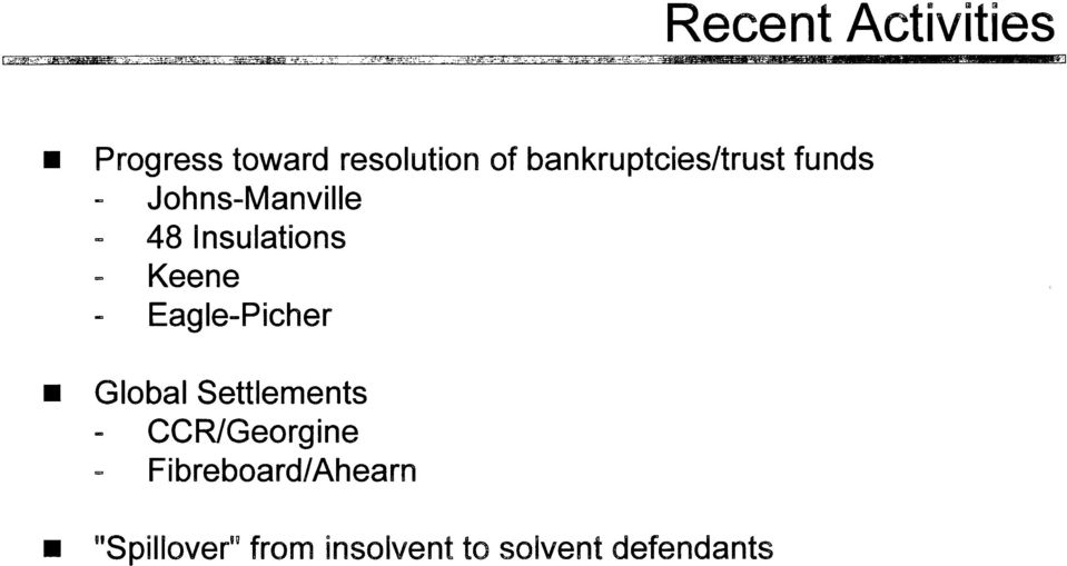 bankruptcies/trust funds Johns-Manville 48 Insulations Keene