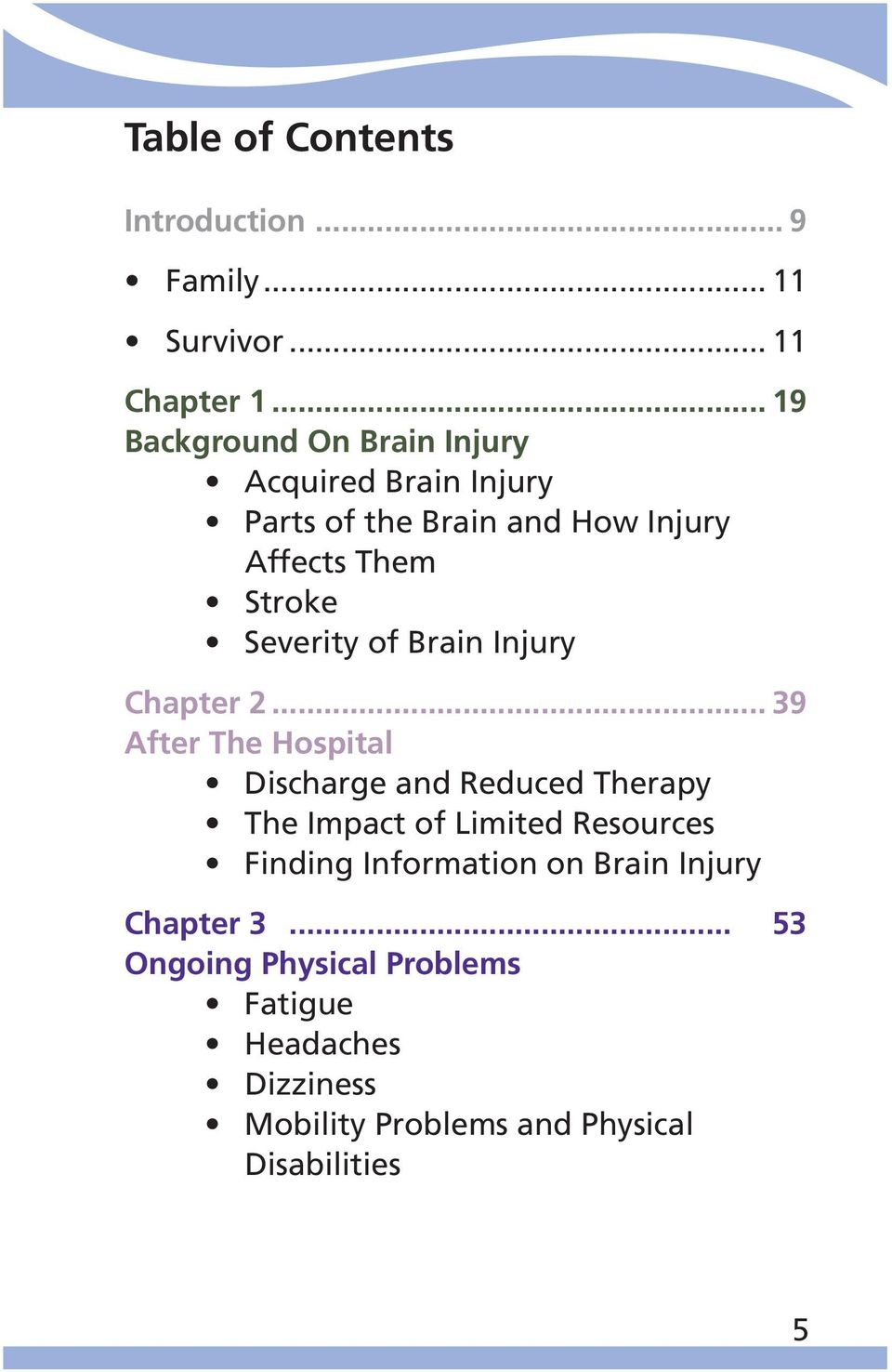 Severity of Brain Injury Chapter 2.