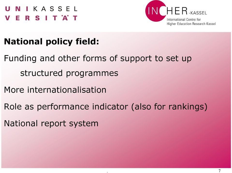 internationalisation Role as performance