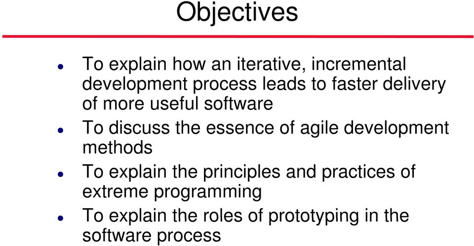 agile development methods To explain the principles i and practices of
