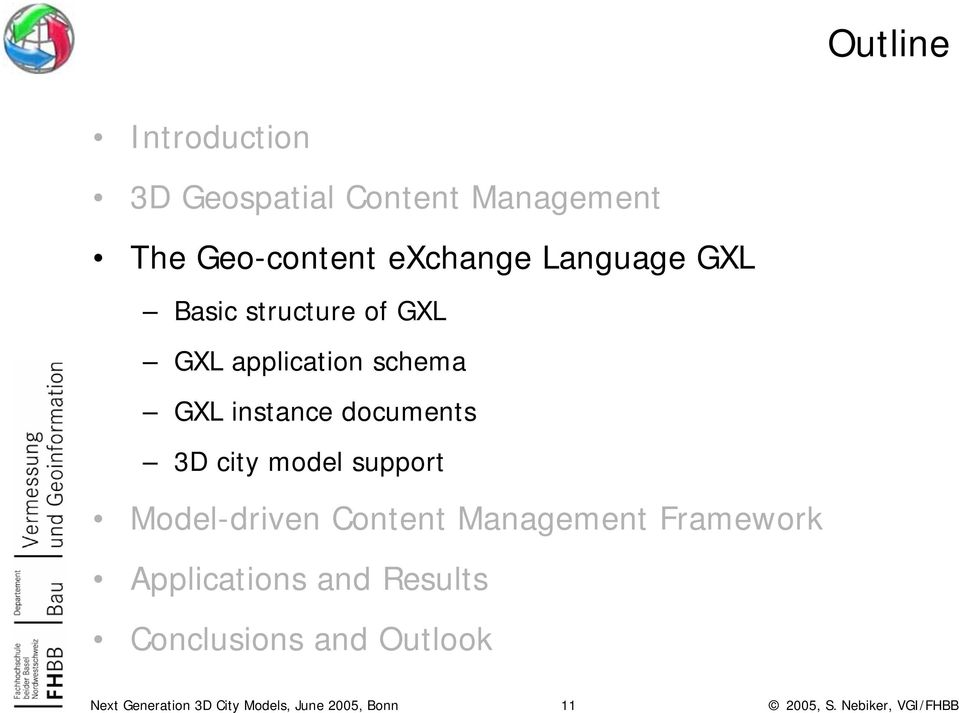 application schema GXL instance documents 3D city model support