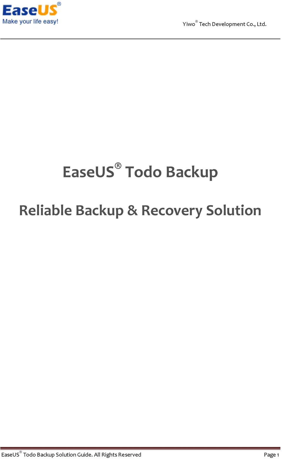 EaseUS Todo Backup Solution