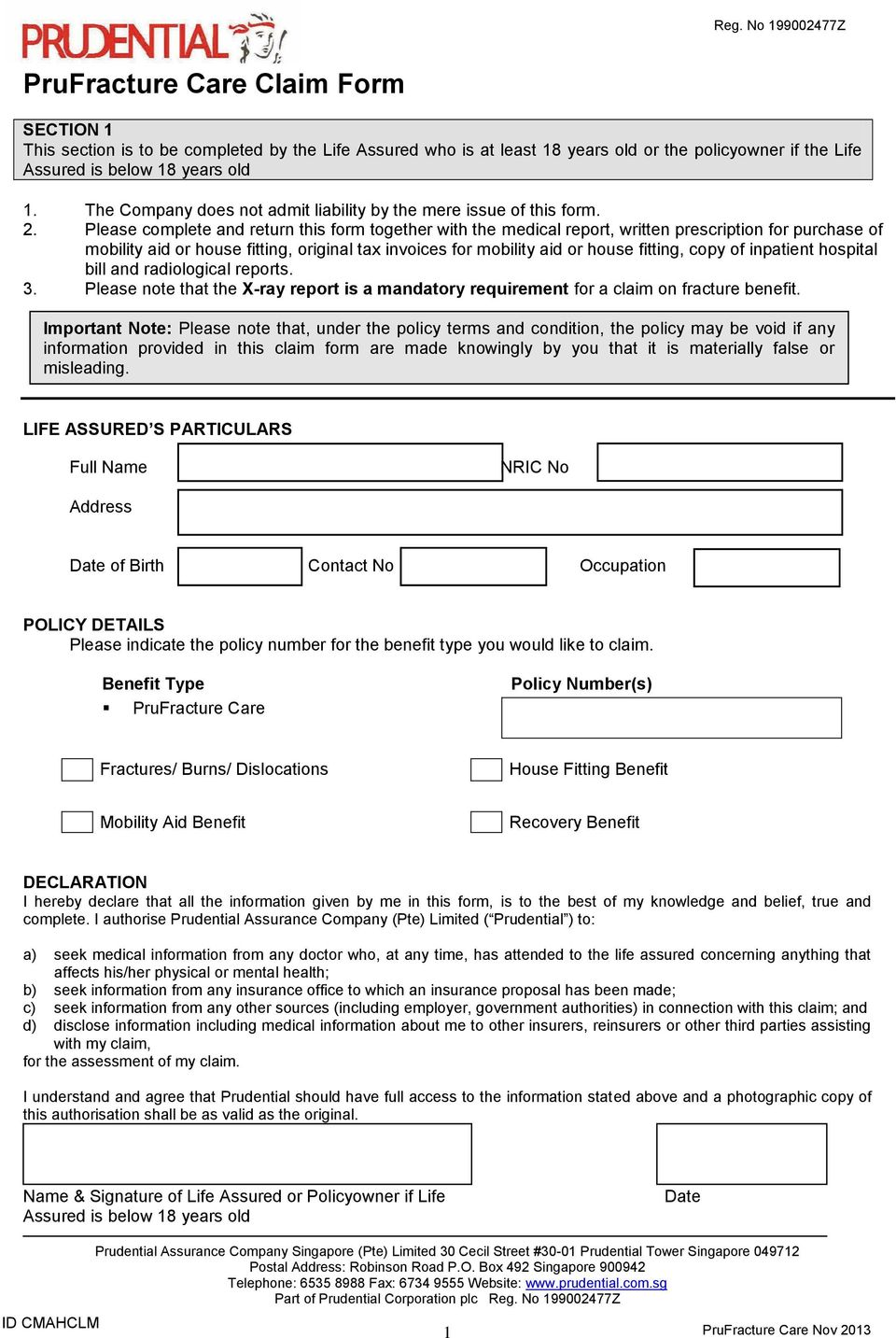 Please complete and return this form together with the medical report, written prescription for purchase of mobility aid or house fitting, original tax invoices for mobility aid or house fitting,