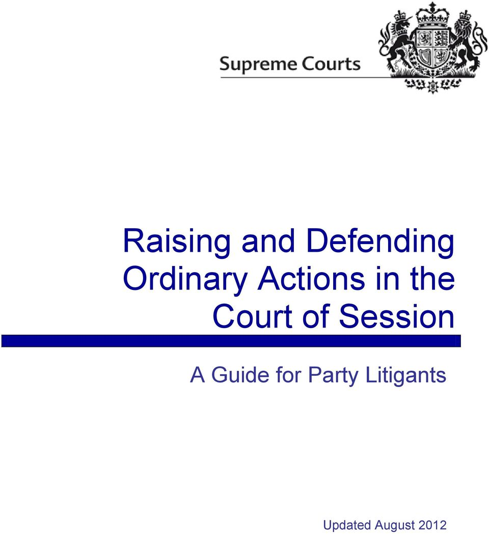 Court of Session A Guide