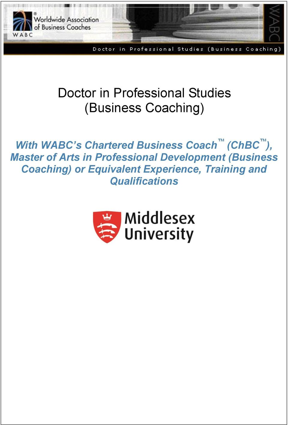 of Arts in Professional Development (Business