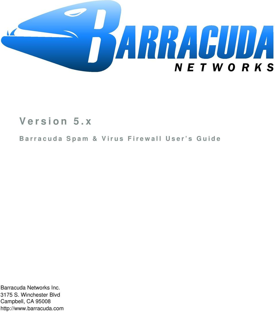 User s Guide Barracuda Networks Inc.