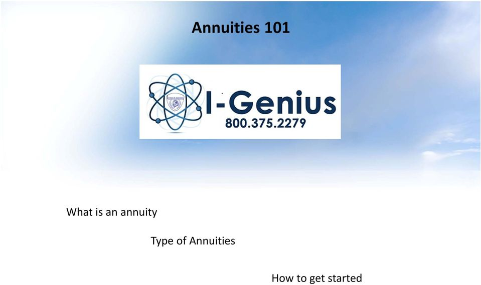 annuity Type of