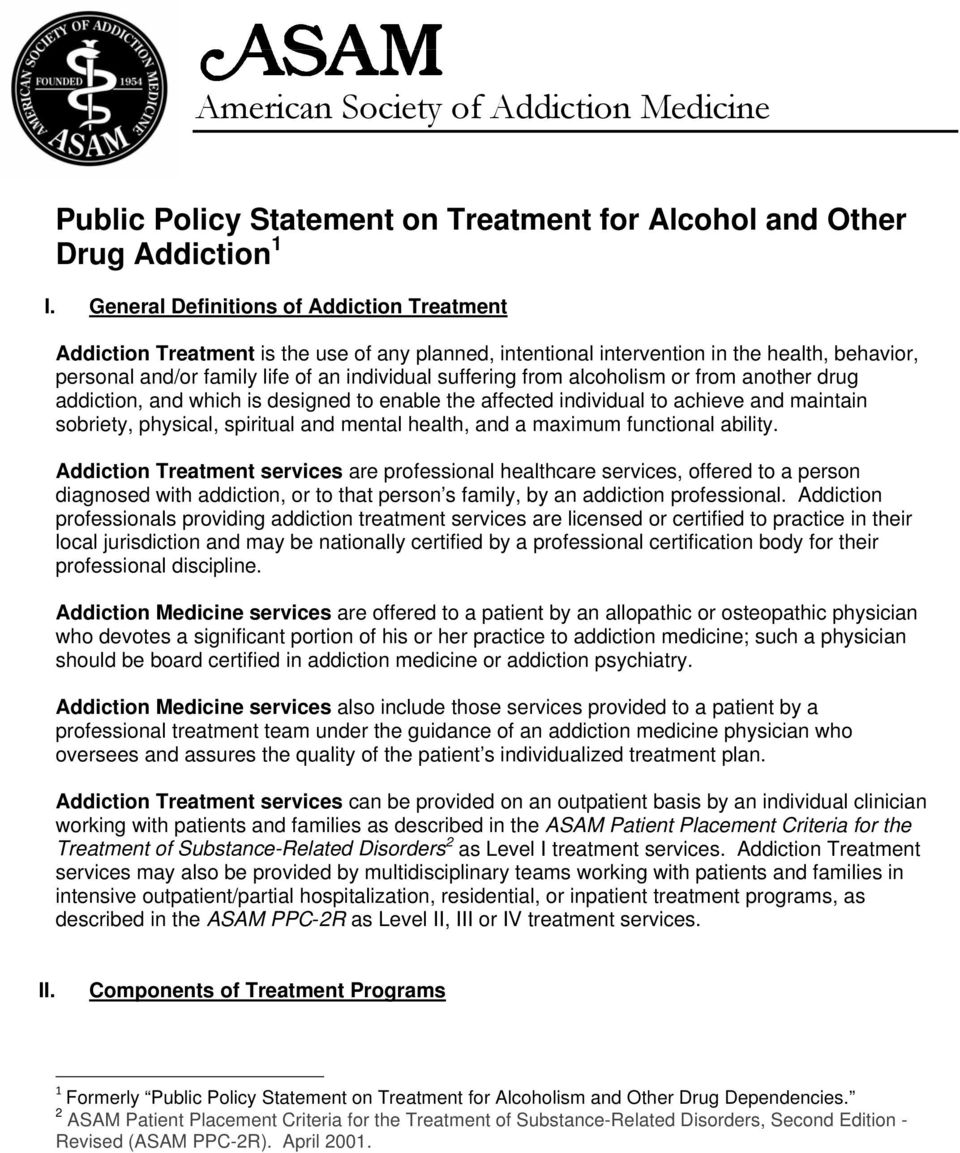 alcoholism or from another drug addiction, and which is designed to enable the affected individual to achieve and maintain sobriety, physical, spiritual and mental health, and a maximum functional