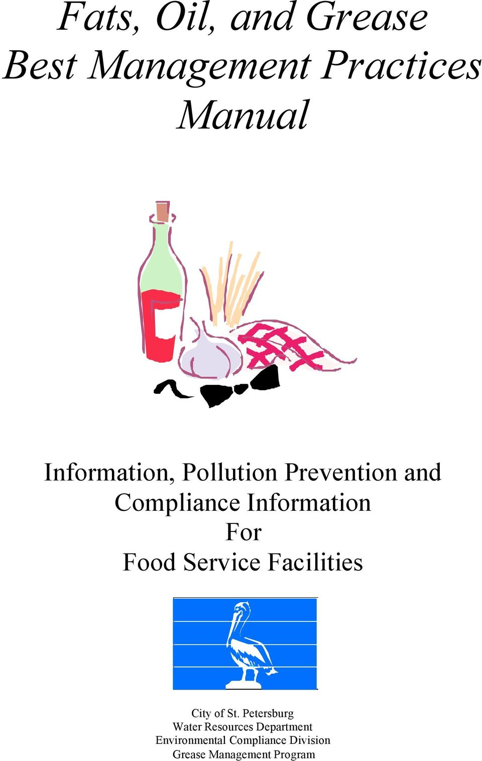 For Food Service Facilities City of St.