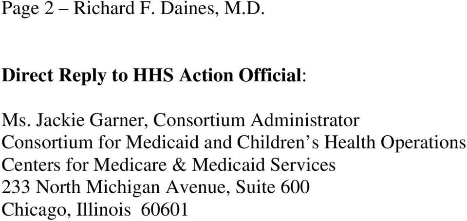 Children s Health Operations Centers for Medicare & Medicaid