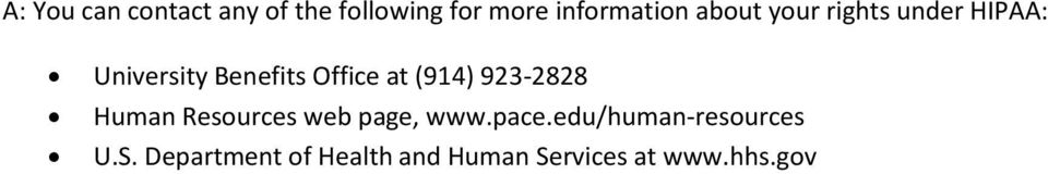 (914) 923-2828 Human Resources web page, www.pace.