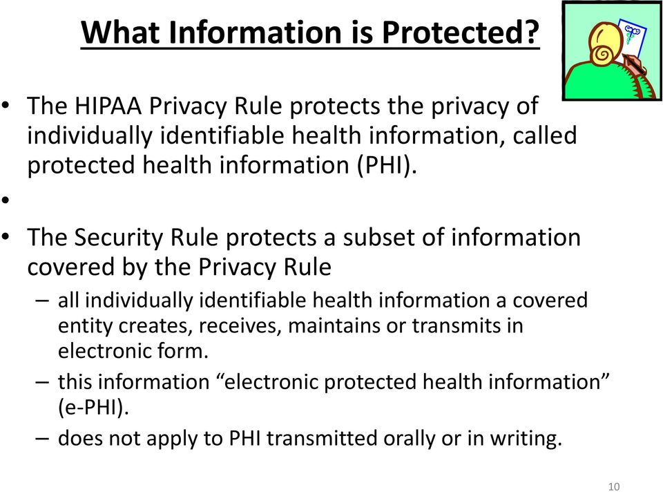 information (PHI).