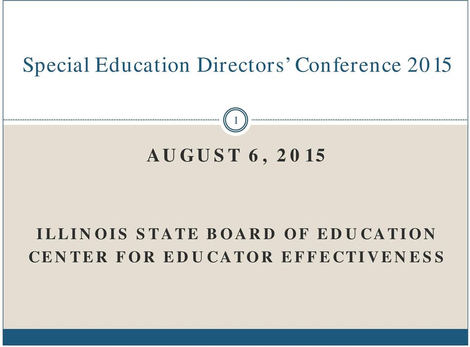 2015 ILLINOIS STATE BOARD OF