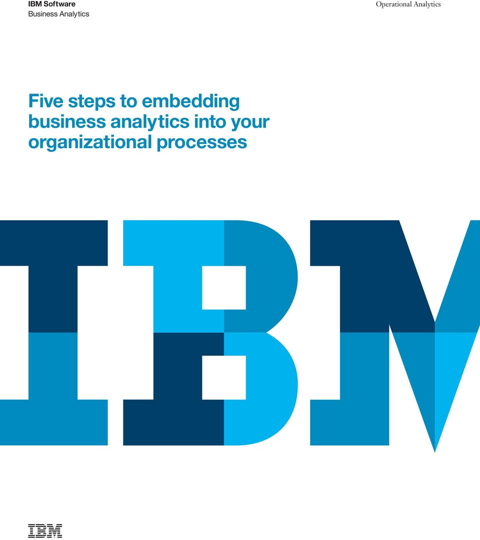 to embedding business analytics