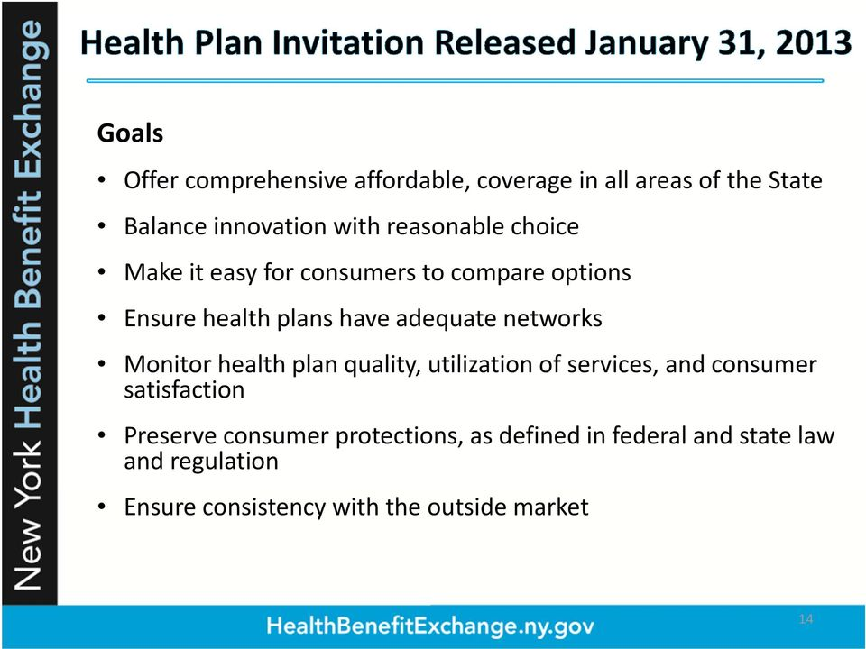 networks Monitor health plan quality, utilization of services, and consumer satisfaction Preserve