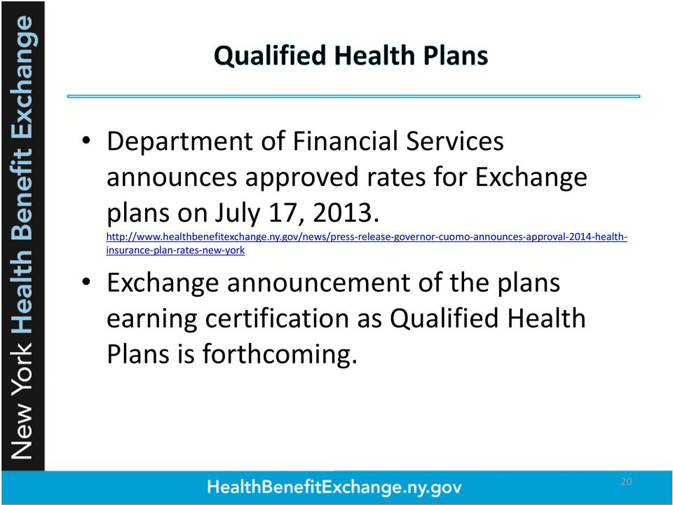 gov/news/press release governor cuomo announces approval 2014 healthinsurance plan