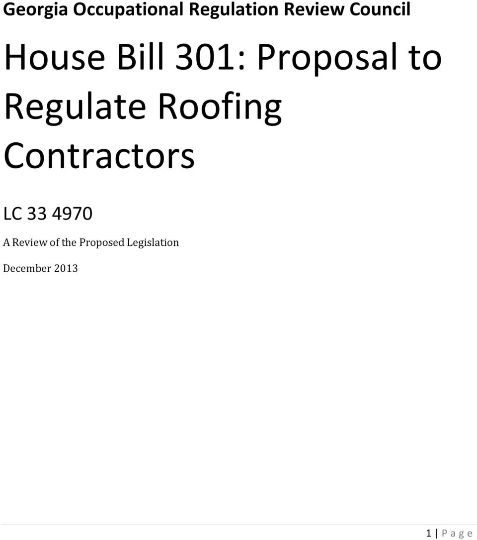 Regulate Roofing Contractors LC 33 4970 A