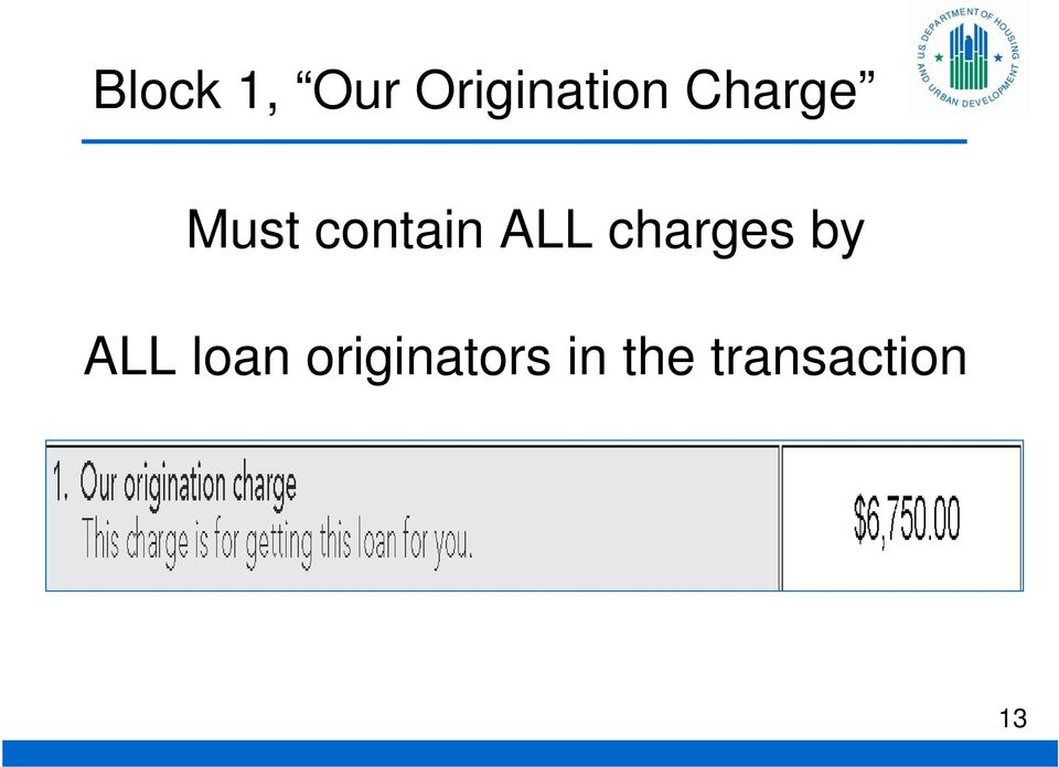 charges by ALL loan