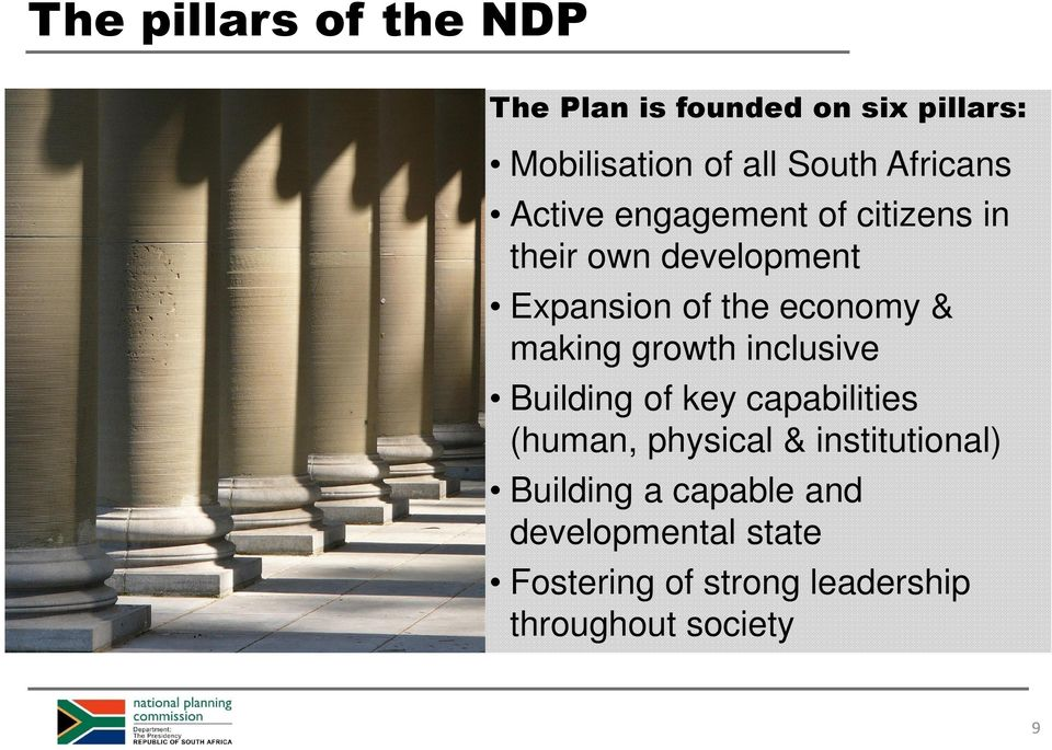 & making growth inclusive Building of key capabilities (human, physical & institutional)