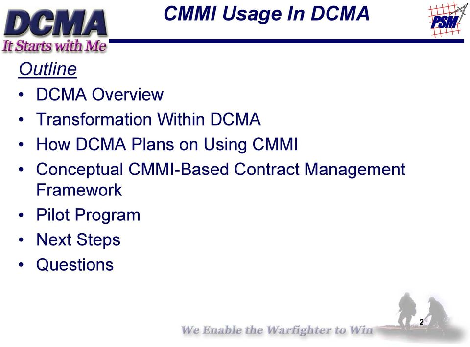 Using CMMI Conceptual CMMI-Based Contract