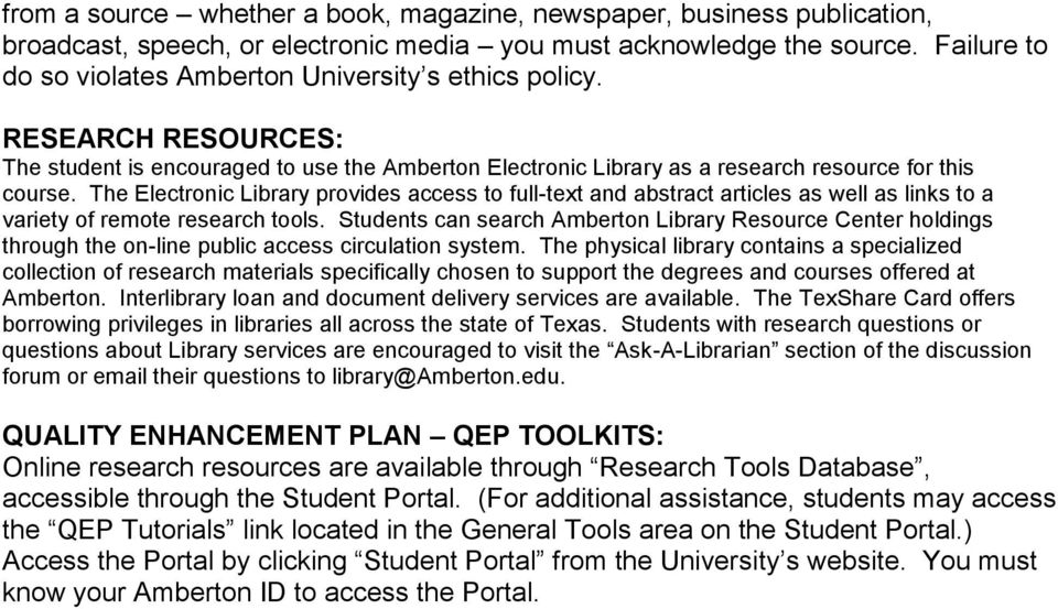 The Electronic Library provides access to full-text and abstract articles as well as links to a variety of remote research tools.