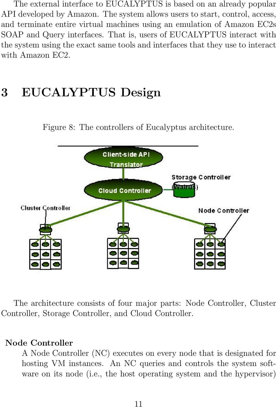 That is, users of EUCALYPTUS interact with the system using the exact same tools and interfaces that they use to interact with Amazon EC2.