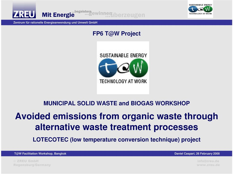through alternative waste treatment processes