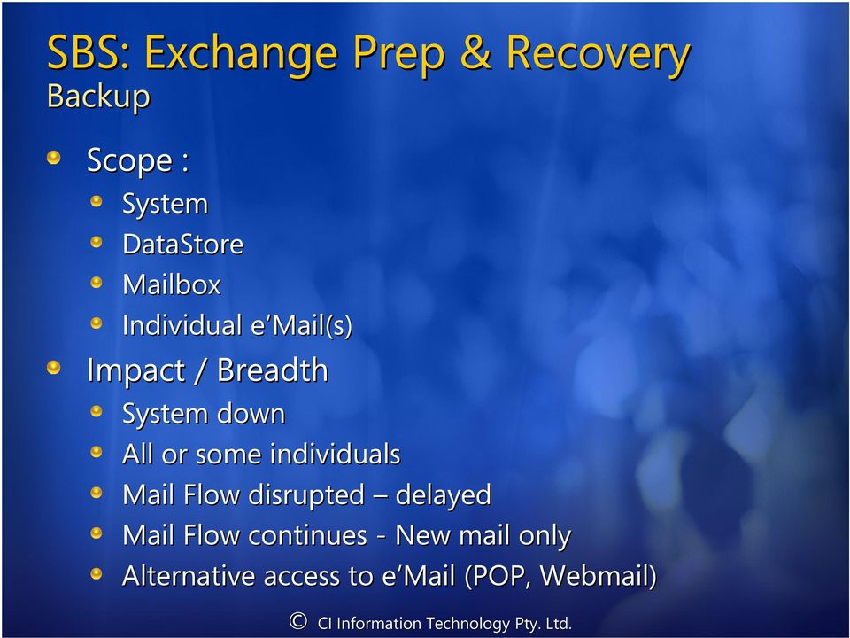 individuals Mail Flow disrupted delayed Mail Flow