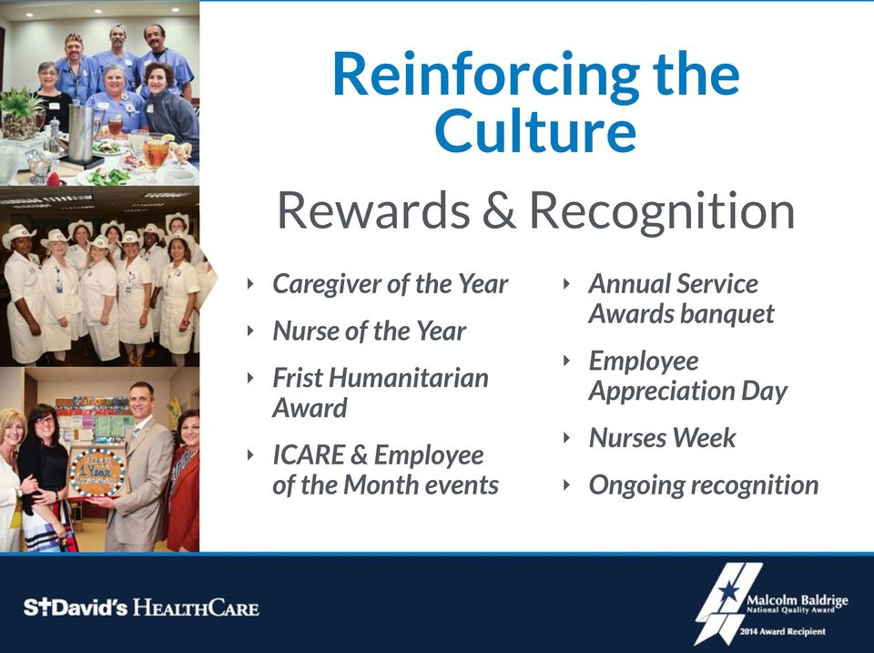 & Employee of the Month events Annual Service Awards