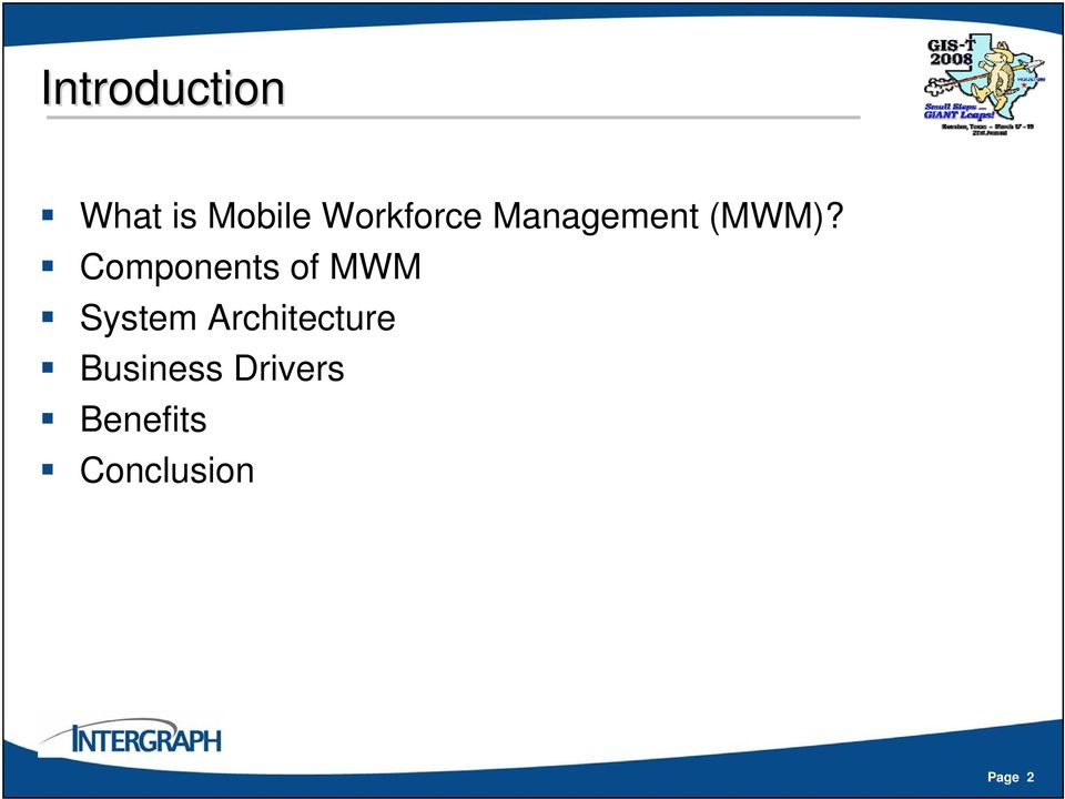 Components of MWM System