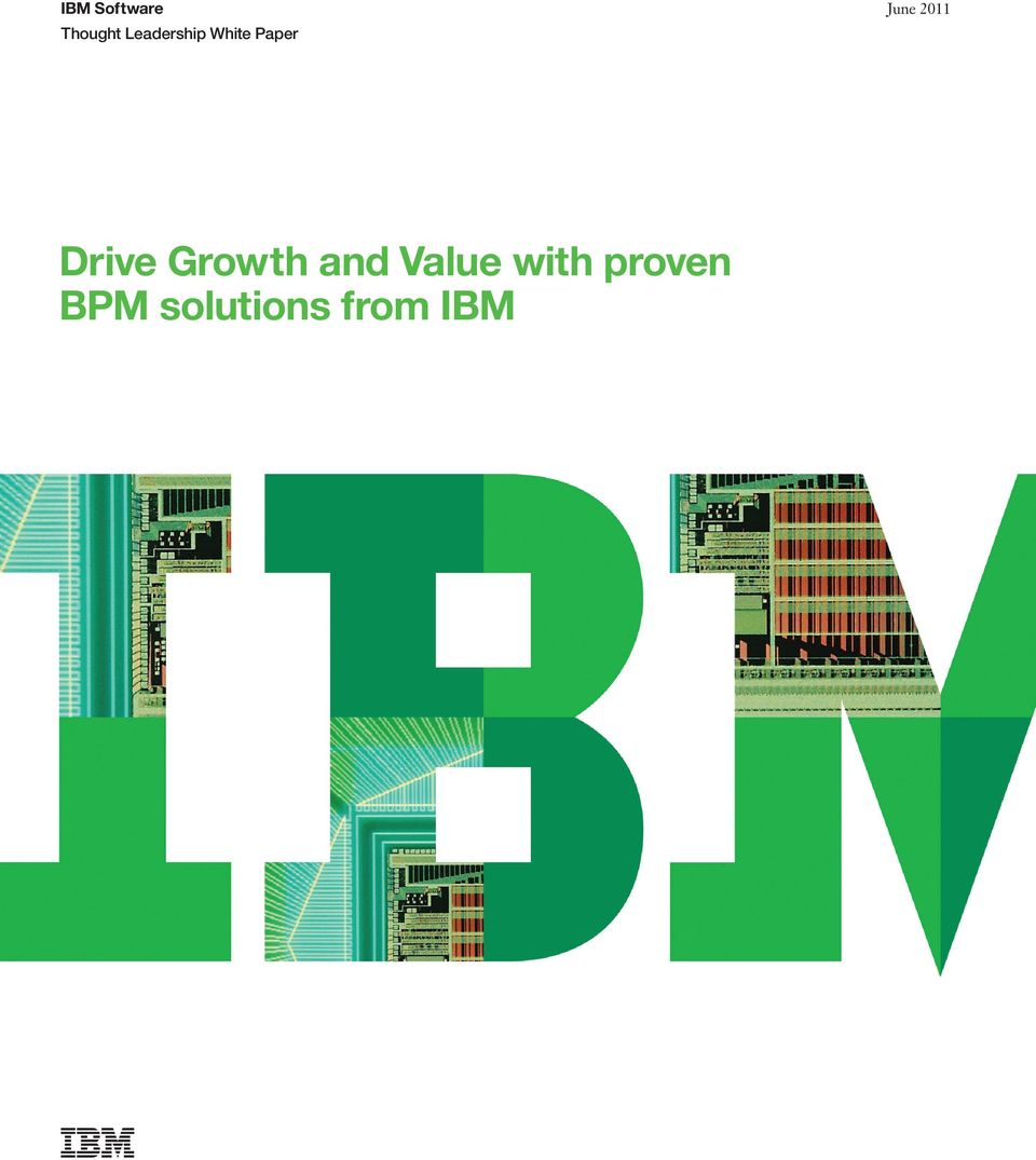 2011 Drive Growth and Value
