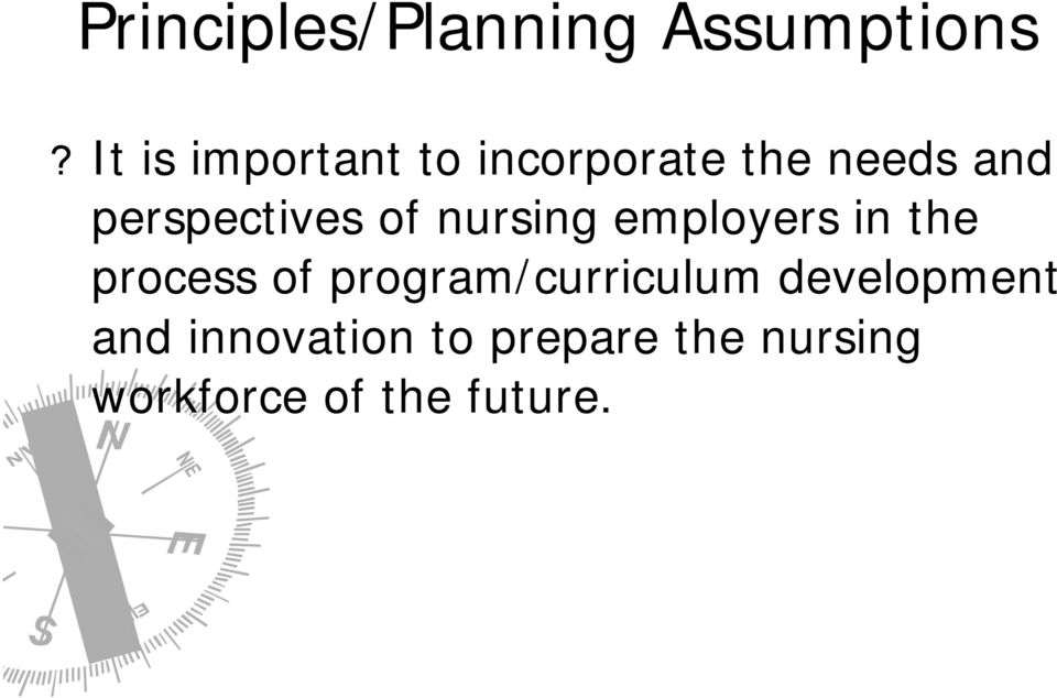 perspectives of nursing employers in the process of