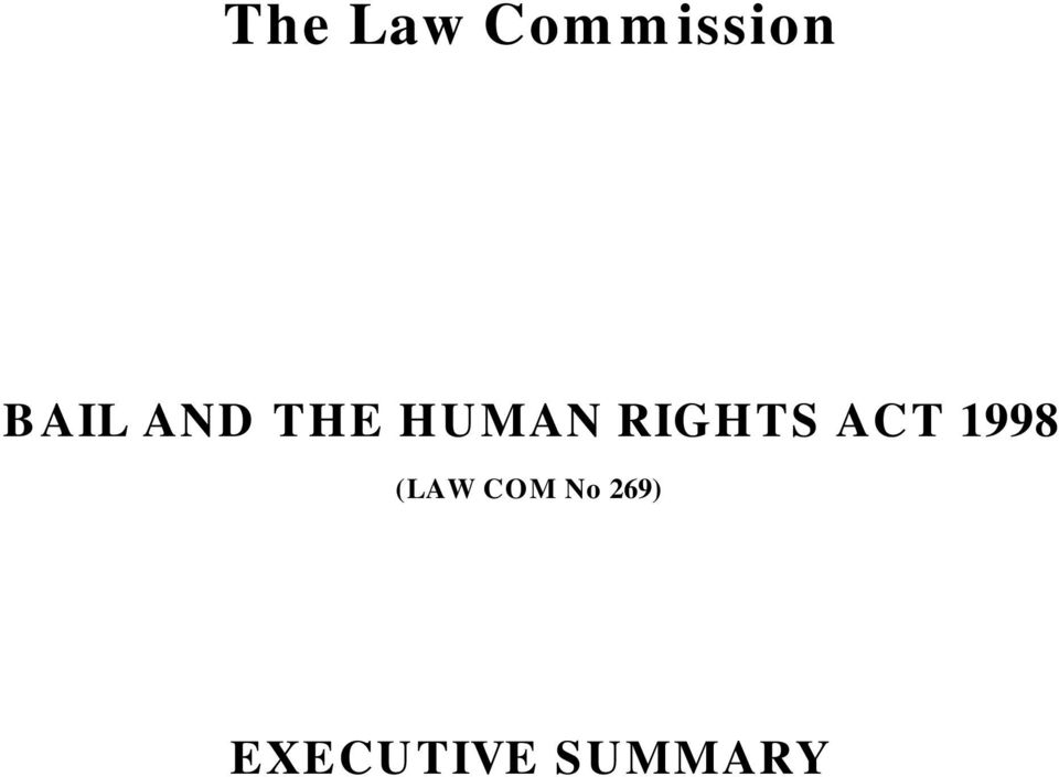 RIGHTS ACT 1998 (LAW